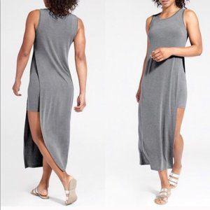 Athleta Grey Gaia Sleeveless Slit Tank Dress XXS